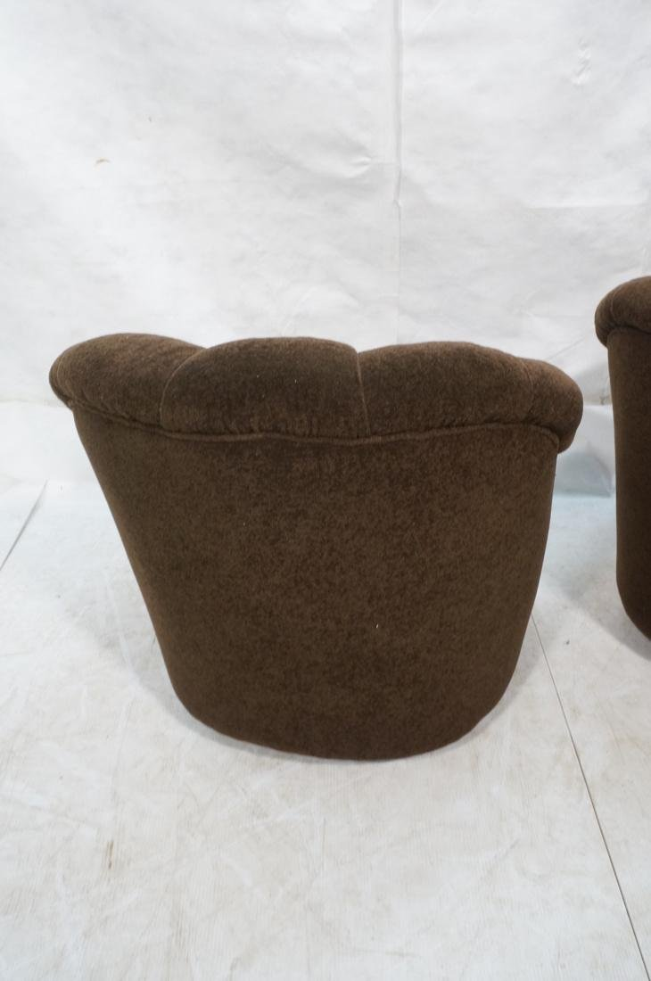 Pr WARD BENNETT Designs Brown Lounge Chairs. Barr - 9
