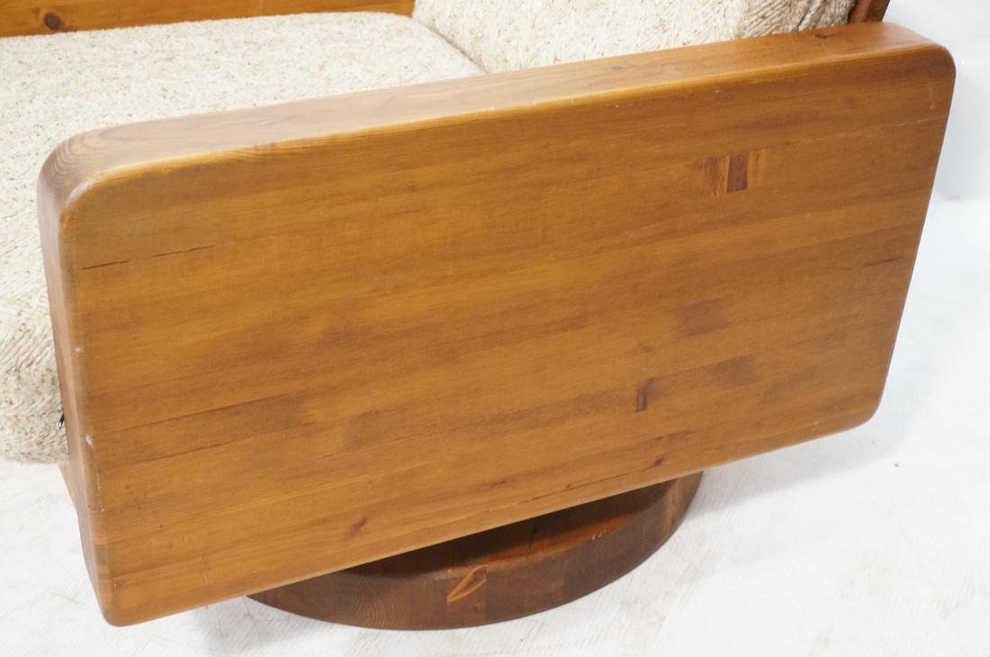 Modern Pine Cube Swivel Lounge Chair. Rocks & swi - 2