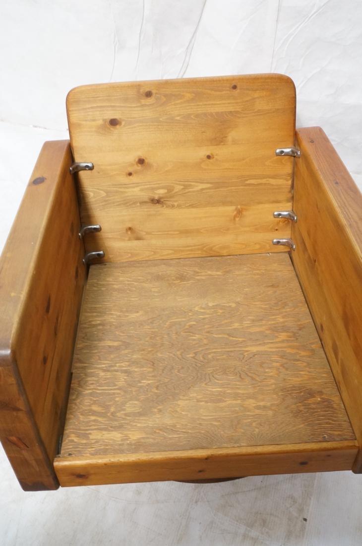 Modern Pine Cube Swivel Lounge Chair. Rocks & swi - 5