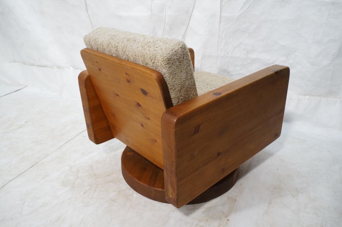 Modern Pine Cube Swivel Lounge Chair. Rocks & swi - 6