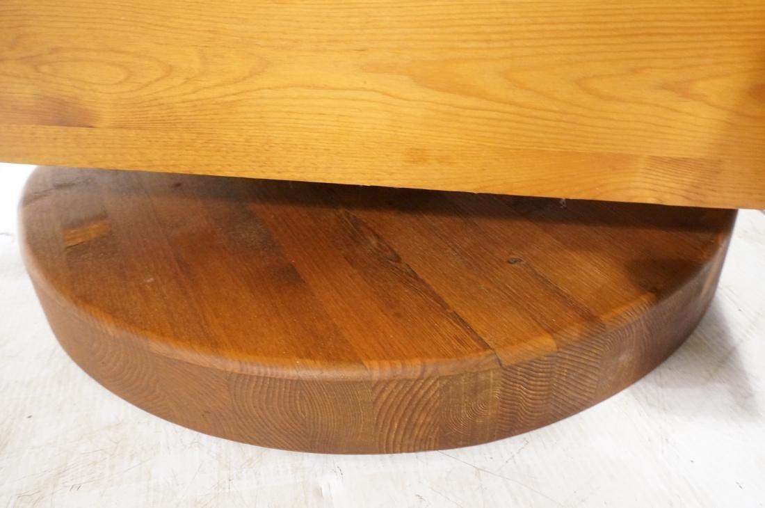 Modern Pine Cube Swivel Lounge Chair. Rocks & swi - 7