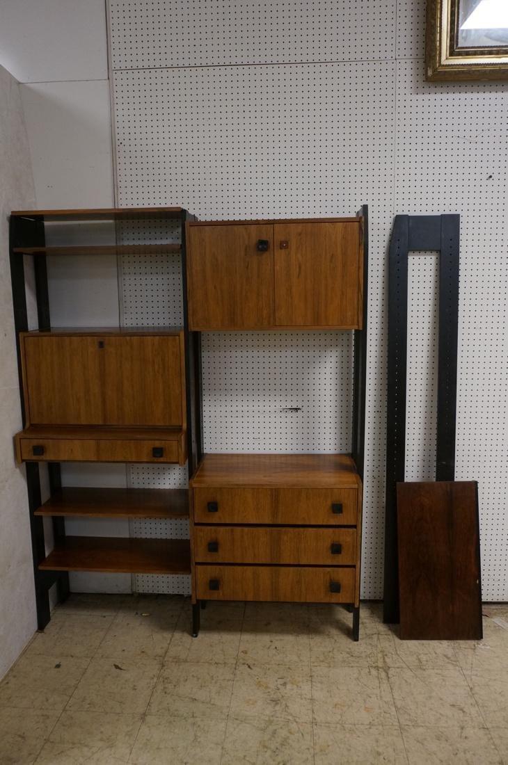 Rosewood Modern Wall Shelf Unit. Black painted up - 2
