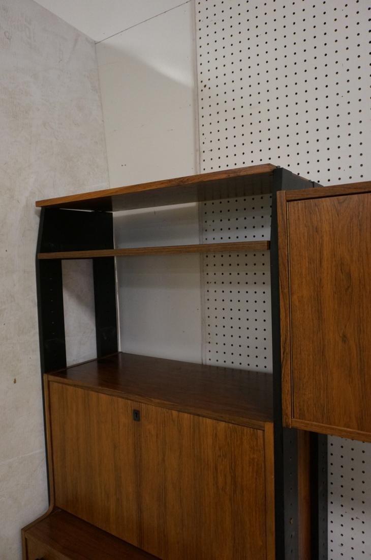 Rosewood Modern Wall Shelf Unit. Black painted up - 6