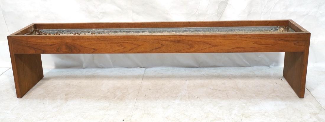ROBERT PAUL Designs Modern Walnut Planter Table.