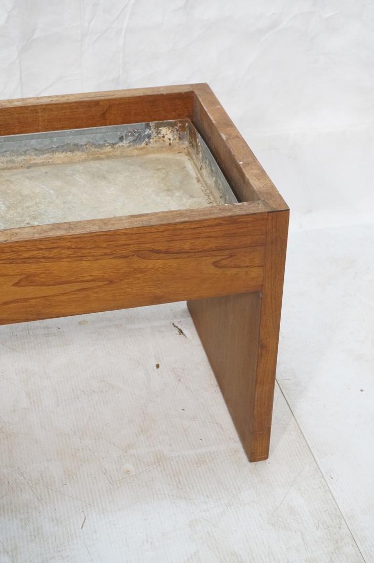 ROBERT PAUL Designs Modern Walnut Planter Table. - 2