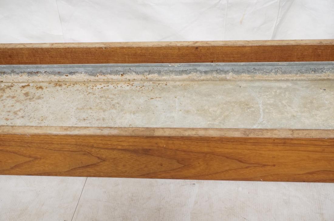 ROBERT PAUL Designs Modern Walnut Planter Table. - 3