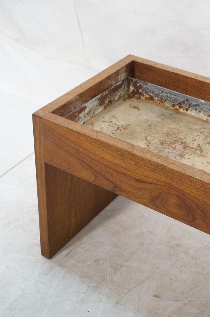 ROBERT PAUL Designs Modern Walnut Planter Table. - 4