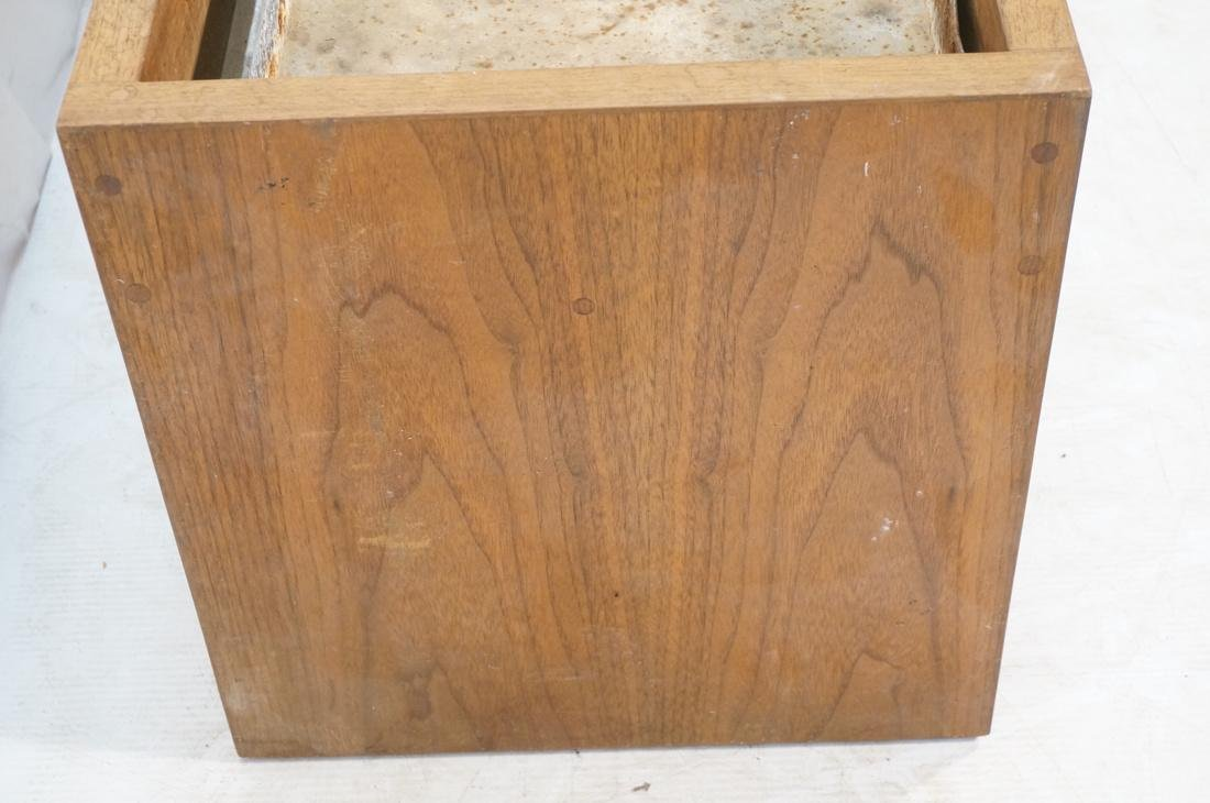 ROBERT PAUL Designs Modern Walnut Planter Table. - 5