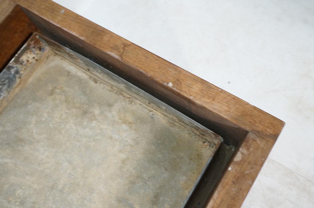 ROBERT PAUL Designs Modern Walnut Planter Table. - 8
