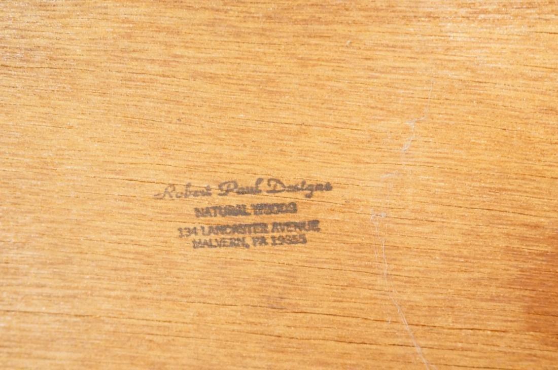ROBERT PAUL Designs Modern Walnut Planter Table. - 9