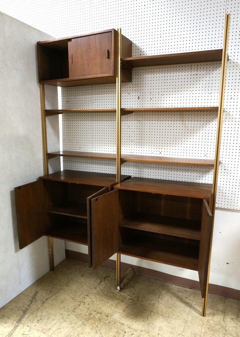 Danish Teak Modern Wall Shelf Unit. 5 Cabinets. 5 - 3