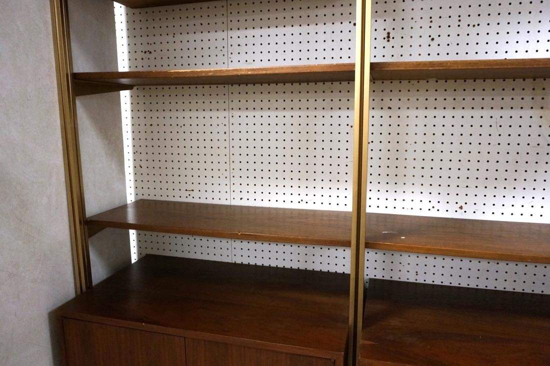 Danish Teak Modern Wall Shelf Unit. 5 Cabinets. 5 - 8