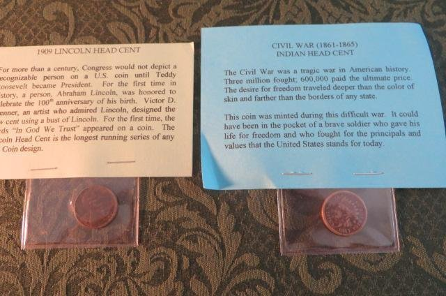 Lot of 2 Lincoln Head Cents