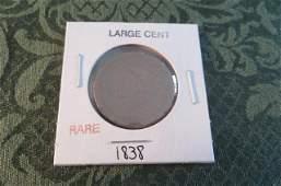 Rare Large Cent 1838