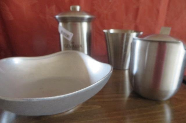 Stainless serving pieces