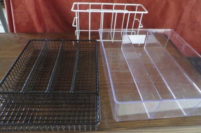 Flatware holders and rack