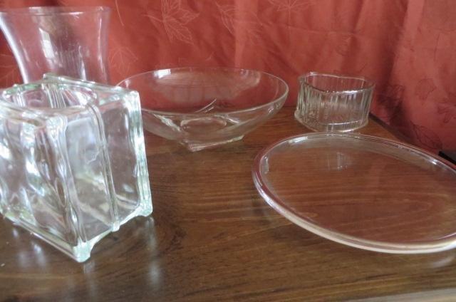 Misc glass decor