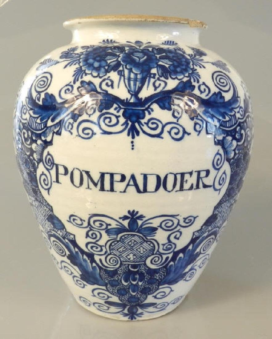 18th Century Dutch Delft Baluster Vase