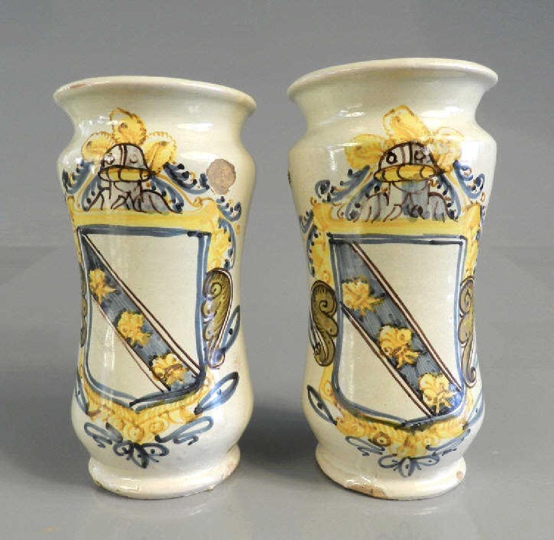 Pair of 17th Century Spanish Albarelli