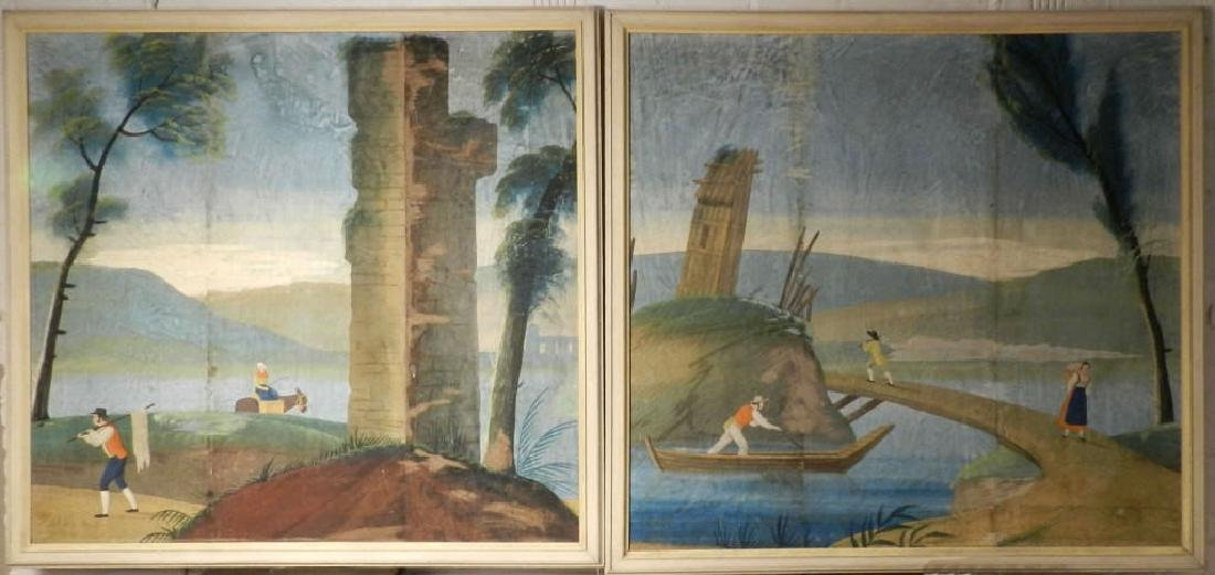 Pair 18th Century French Large Panels