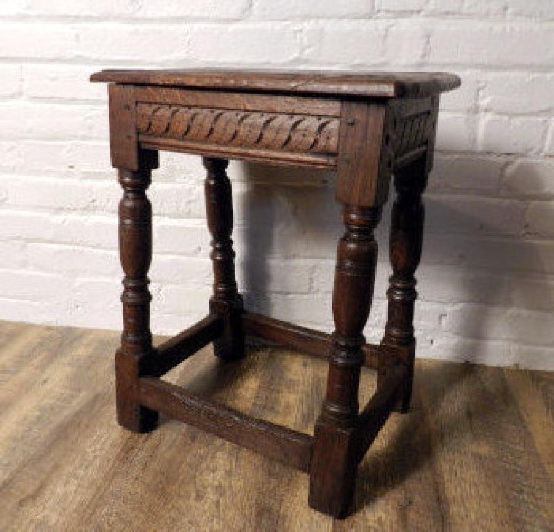 English Jacobean Oak Stool