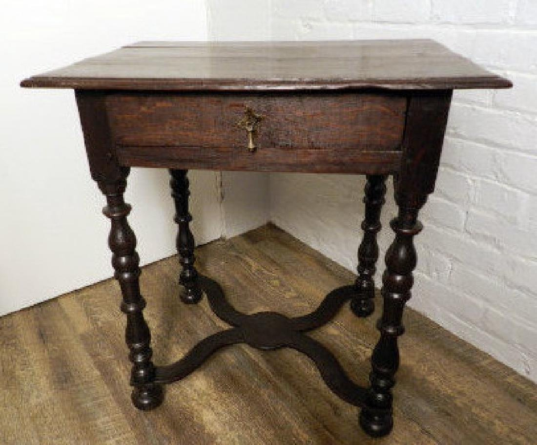 18th Century William & Mary Style Oak Table