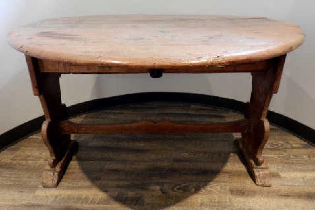 Early 19th Century Quebec Pine Drop-Leaf Table