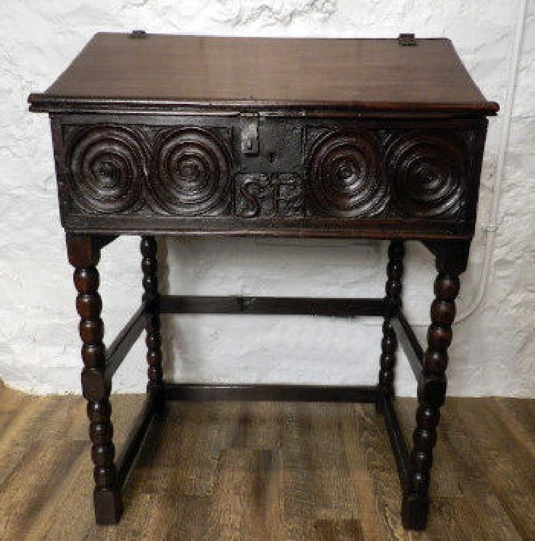 17th Century Style Oak Bible Box