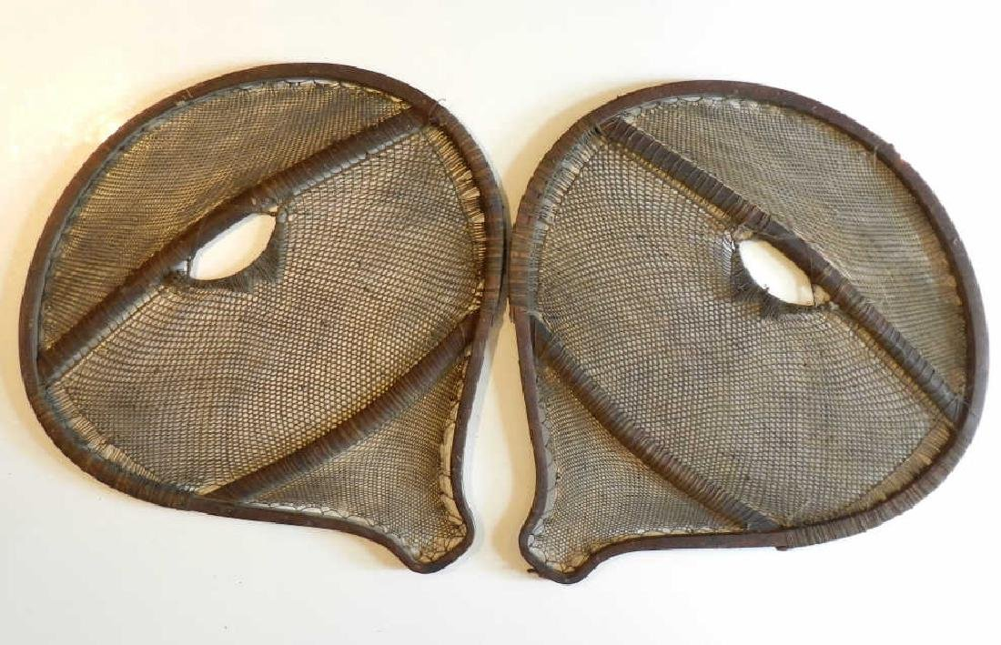 19th Century Beaver Tail Snow Shoes