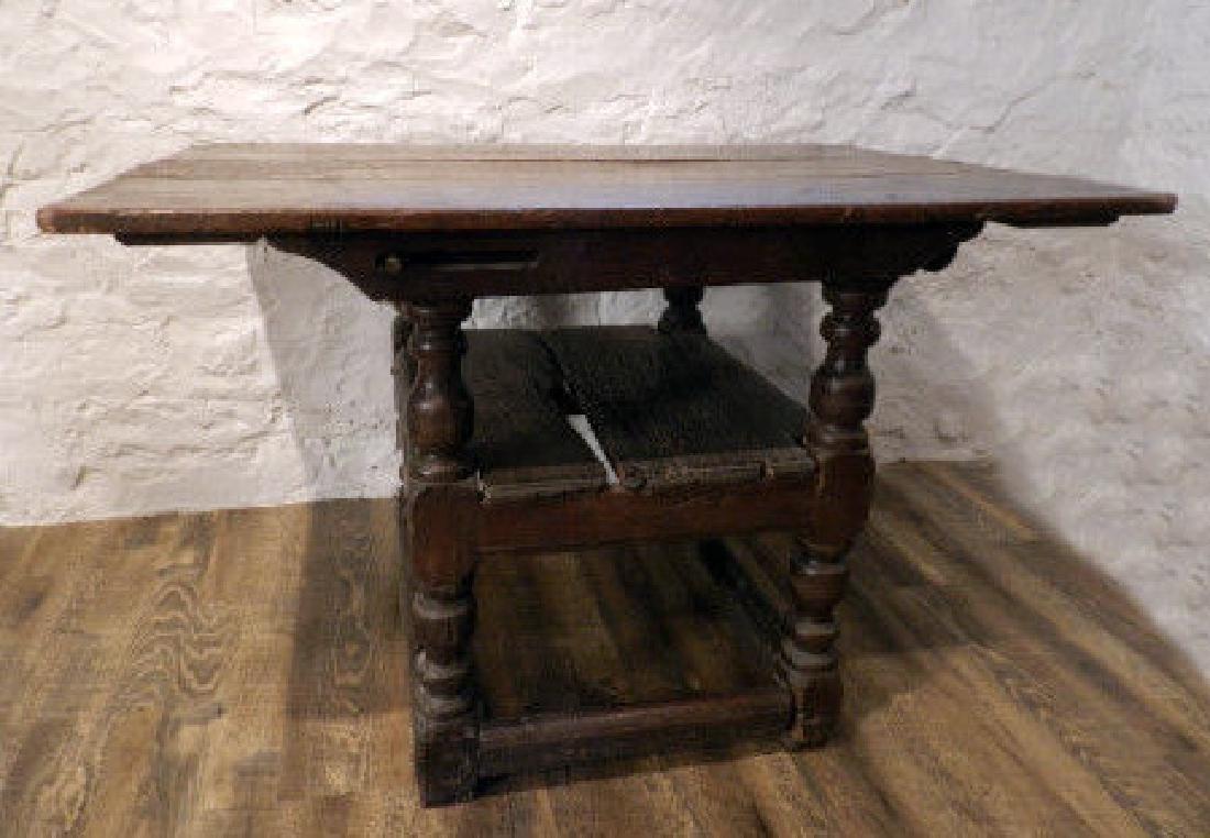 17th C. Style Metamorphic Oak Table Armchair