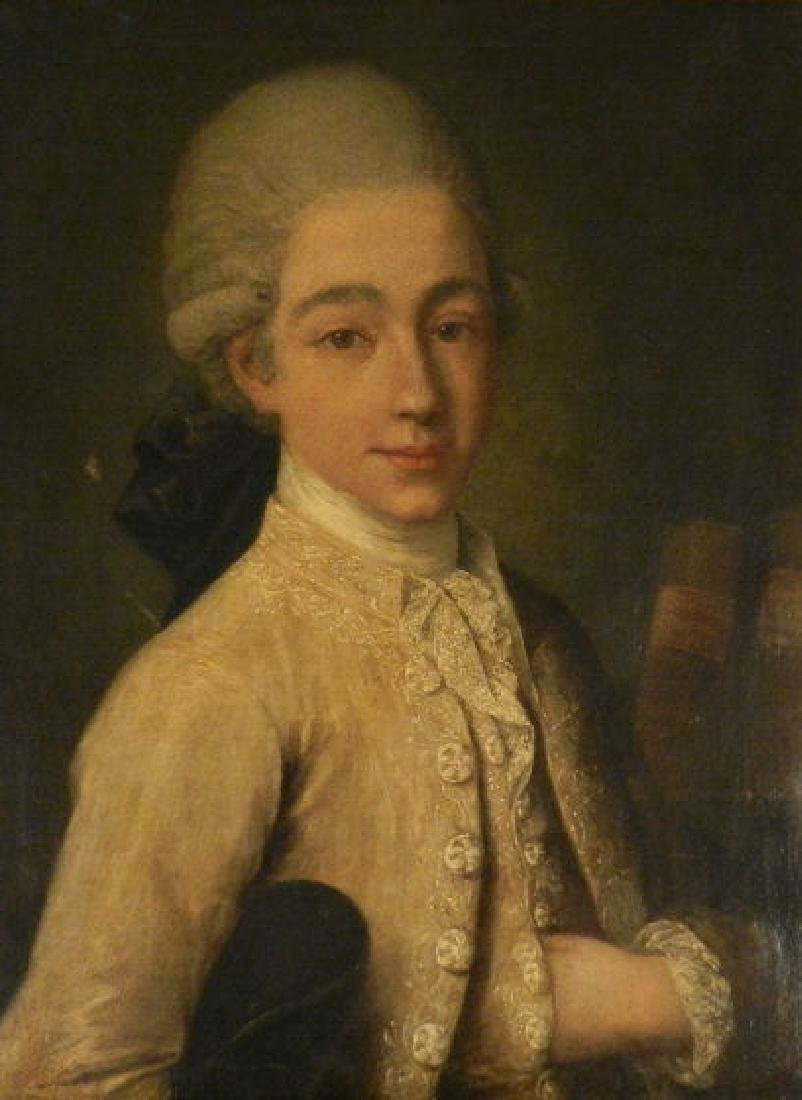 Art - Venetian School (18th C.) Portrait Youth