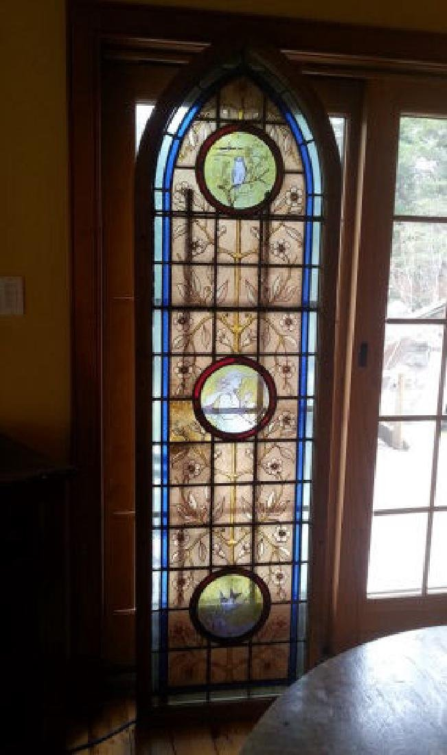 Large Late Victorian Stained Glass Panel