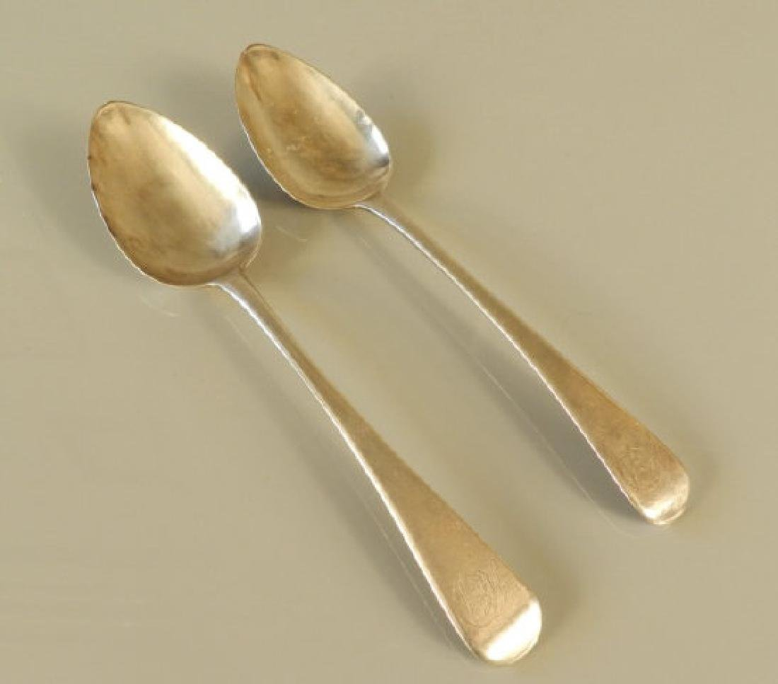 Two Late Georgian Hallmarked Table Spoons