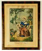 Two Currier  Ives Framed Lithographs Two Currier