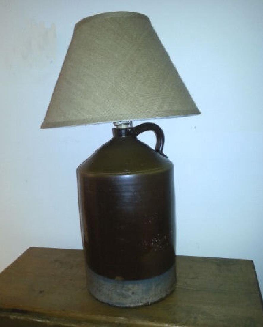 Three Gallon Crock Now Lamp Three gallon crock with a