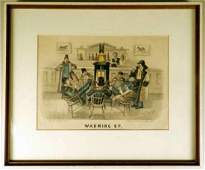 Currier  Ives Framed Lithograph A Currier  Ives