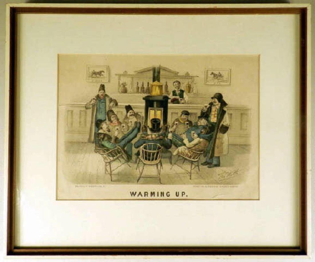 Currier & Ives Framed Lithograph A Currier & Ives