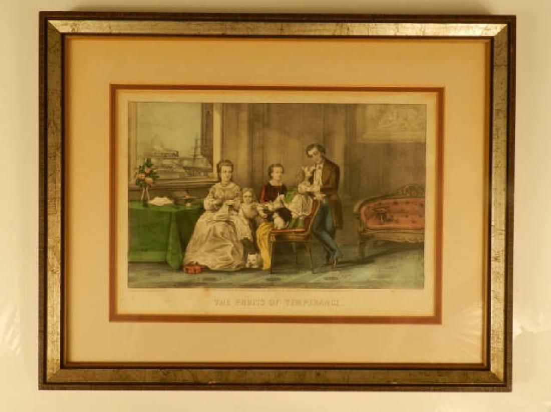 Two Currier & Ives Framed Lithographs Two Currier &