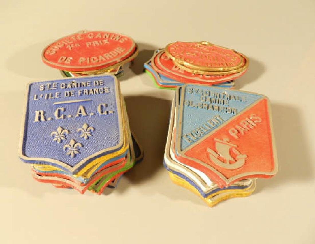 French Dog Show Prize Plaques