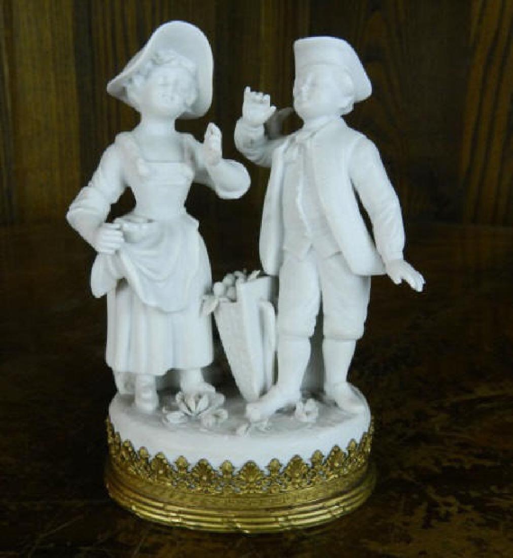 Late 18th Century Parian Ware Porcelain Boy & Girl