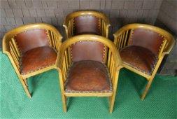 Four C. 1905 Joseph Hoffman Chairs By J&J Kohn