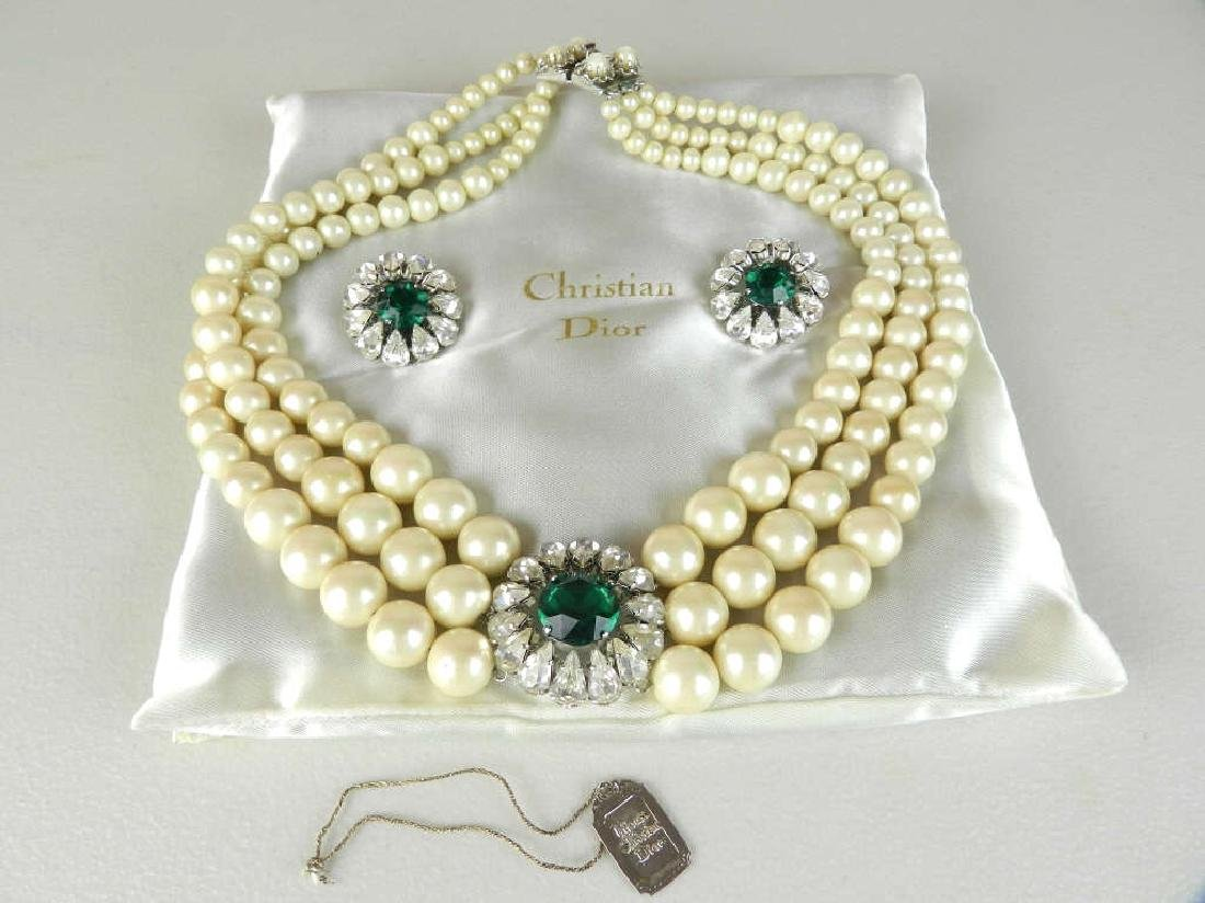 Rare 1961 Christian DIOR Necklace & Earrings