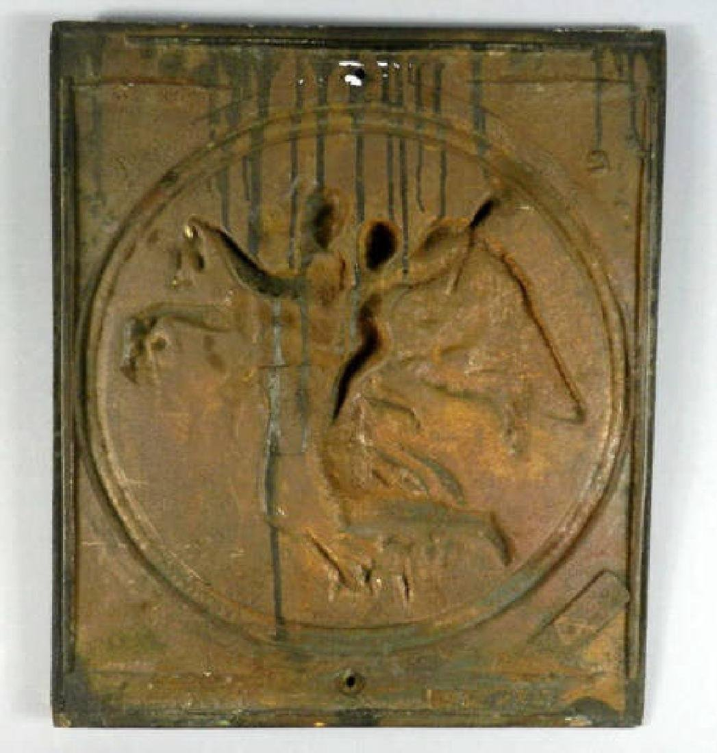 Large Cast Iron Relief After Thorvaldson - 4