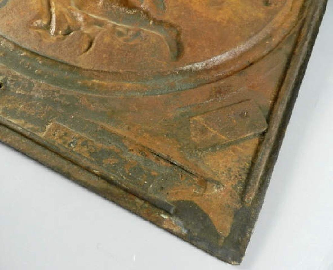 Large Cast Iron Relief After Thorvaldson - 5