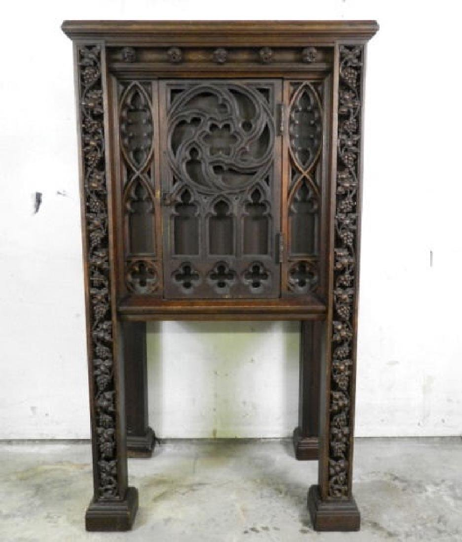 Unusual Large Neo-Gothic Oak Stand