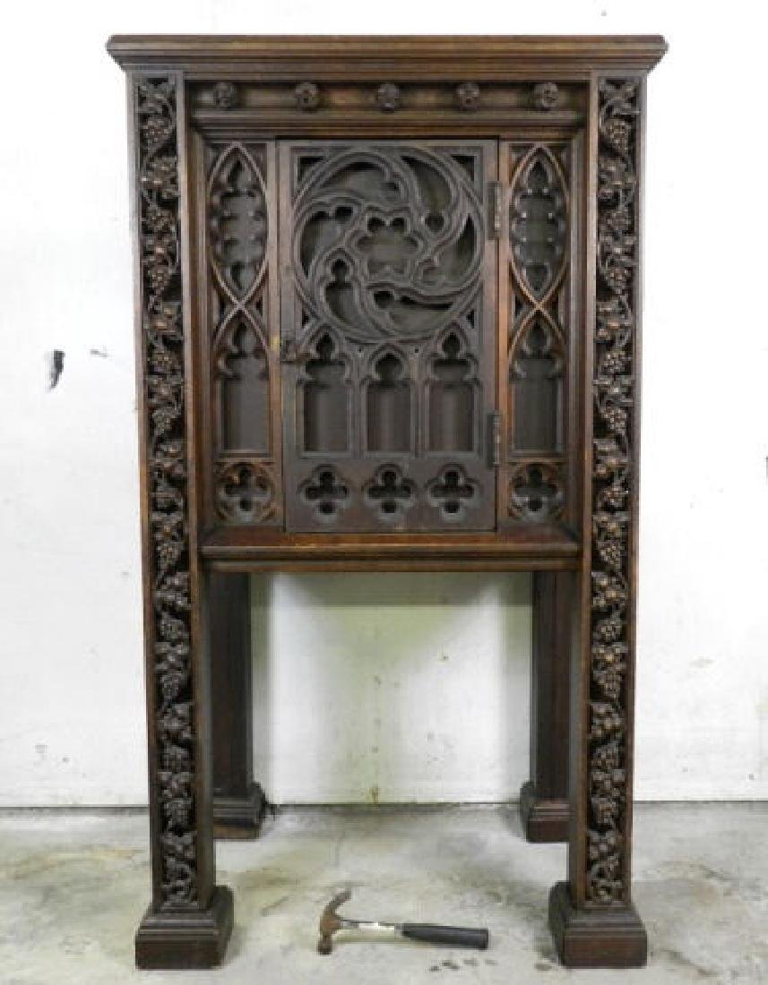 Unusual Large Neo-Gothic Oak Stand - 2