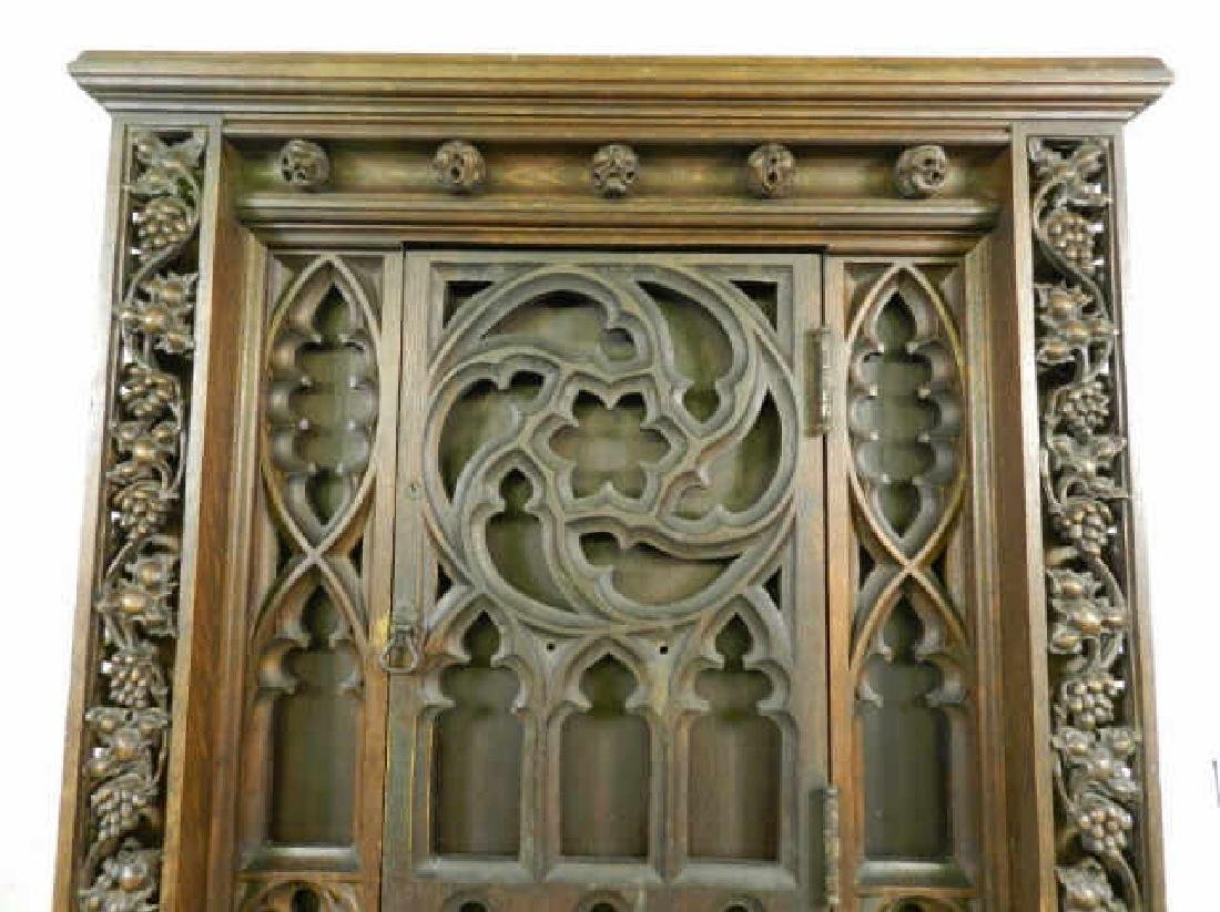 Unusual Large Neo-Gothic Oak Stand - 3