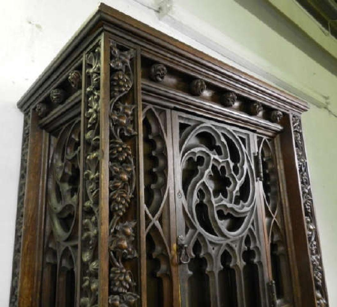 Unusual Large Neo-Gothic Oak Stand - 4