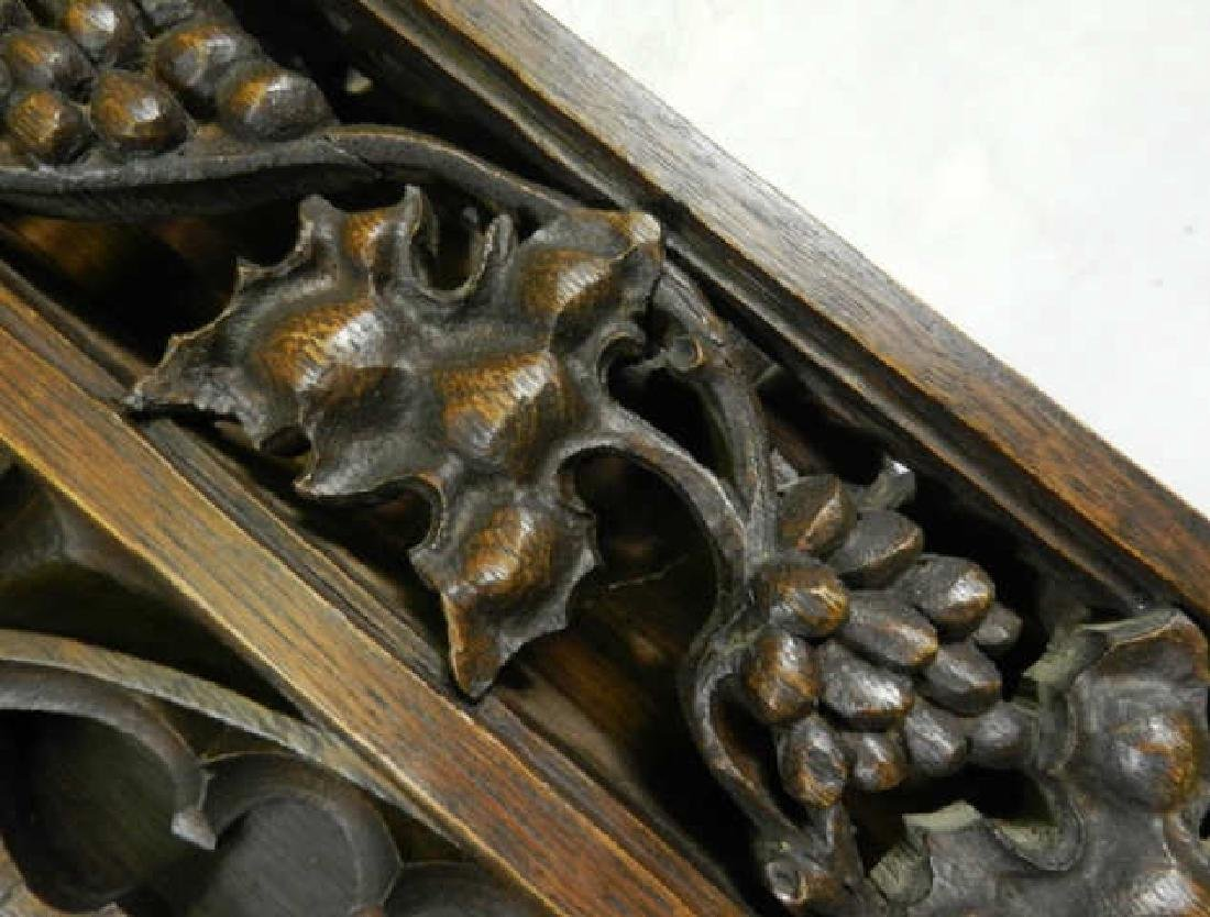 Unusual Large Neo-Gothic Oak Stand - 7