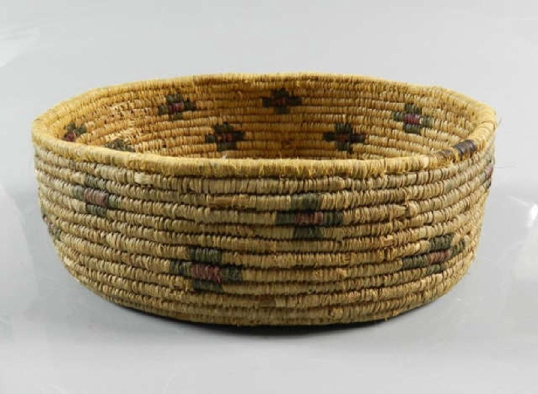 Circa 1980 Oval Sweet Grass Native Basket